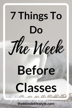 A semester has come and gone and college is about to start back up for spring semester. Spring semester is just a few weeks away, so start it off on the right footing! --theblondelifestyle.com