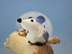 Mademoiselle Judy lampwork mouse bead sra by DeniseAnnette on Etsy, $16.00