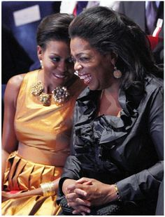 Michelle Obama and Oprah Winfrey...together...in one pic. YES.