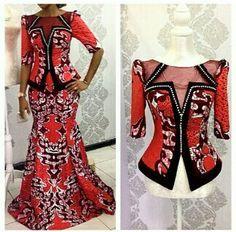 Beautiful Ankara Skirt and Blouse Style - DeZango Fashion Zone