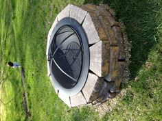 DIY fire pit!!! With spark screen