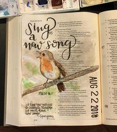 Psalm 96 Bible art journaling by Scripture Art, Bible Art, Bible Verses, Bible Notes, Bible Study Tools, Bible Study Journal, Art Journaling, Psalm 96, Bible Doodling