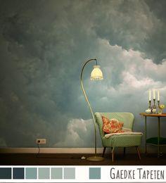 Entzuckend Eure Schönsten Wolkenfotos Als Tapete. Schöner Wohnen Tapeten, Bunte Tapeten,  Tapete Flur,
