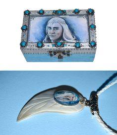 Jewellery box and pendant  Elven king elf jewellery