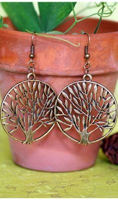 TREE OF LIFE EARRINGS... Love them.  *kls