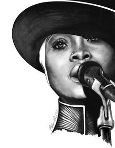Erykah Badu Large Art Print For the Love of Music by thatArtista, $85.00
