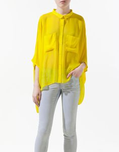 zara-yellow-short-cape-shirt