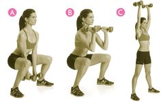 Squat to Curl Thruster http://www.womenshealthmag.com/fitness/emom-workouts/slide/4