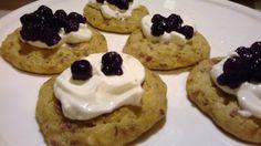 banana pancakes with white cheese and chokeberries jam