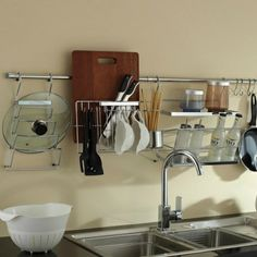 Multifunctional Entire Stainless Steel Kitchen Cookware Rack|JollyHome.com