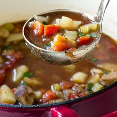 Quick And Easy Beef Vegetable Soup Soup Soup Stew . Quick And Easy Beef Vegetable Soup New Mom Starting From . Home and Family Beef Soup Recipes, Healthy Chicken Recipes, Cooking Recipes, Vegetable Recipes, Chowder Recipes, Cooking Time, Gnocchi, Irish Potato Soup, Suppers