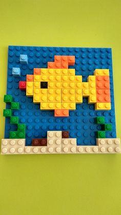 Лего мозаика, рыбка
