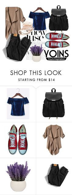 """""""YOINS #12"""" by sandralalala ❤ liked on Polyvore featuring Converse, Levi's and Red Camel"""