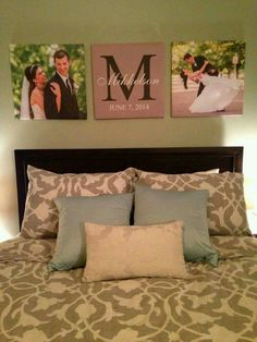 Bedroom idea, I like the picture of their wedding