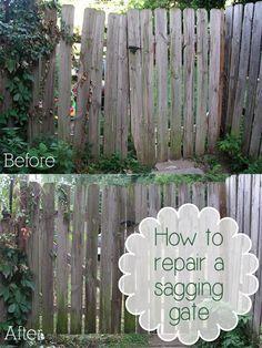 How To Repair A Sagging Gate