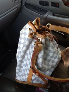 LV Damier Azur Noe- in a darker patina (picts from TPF)