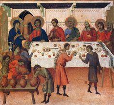 Duccio di Buoninsegna 038 - Cud w Kanie Galilejskiej – Wikipedia, wolna encyklopedia
