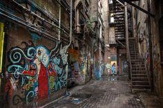 back-alley-revisit Urban Decay Photography, Landscape Photography, City Aesthetic, Gotham City, Urban Landscape, Concept Art, Street Art, Scenery, New York