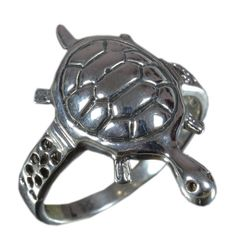 925 Solid Sterling Silver Ring Stylish Tortoise Design US Size 7.25 JSR-1577 #Handmade #Ring