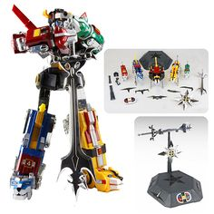Commemorate this momentous occasion, of Voltron's 30th with the Voltron 30th Anniversary Die-Cast Light-Up Action Figure with Sound Collectors Set!