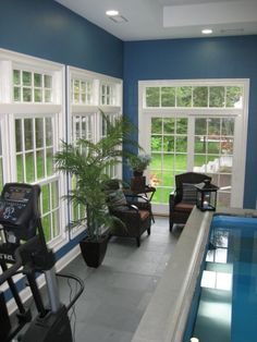 endless pools indoor designs | Indoor Pool and Exercise Room, We recently added this new Endless Pool ...