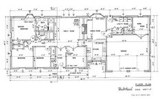 Country Ranch House Floor Plan