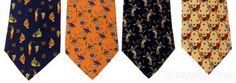 Lot 4 Olimpo 100% Silk Neck Ties Juggling Circus Clown Unicycle Elephants Tiger