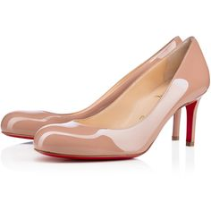 Christian Louboutin Simple Pump ($675) ❤ liked on Polyvore featuring shoes, pumps, christian louboutin, heels, nude, high heel shoes, stiletto heel pumps, nude high heel pumps, christian louboutin shoes and stiletto pumps