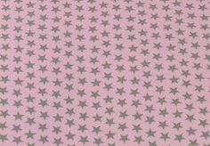 Stoff Sterne - 586 Jersey Sterne Rosa Hellgrau - ein Designerstück von my-kati…