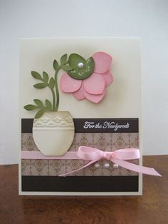 Love the idea of using the embossing folder to decorate the vase.