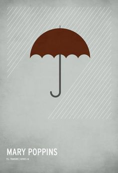"""Mary Poppins"" by Christian Jackson, Chicago area // SupercalifragilisticexpialidociousThe classic children's stories that many of us grew to know and love have been simplified into hyper-minimalist, iconographic posters by up and coming premier designer Christian Jackson. Inspired by his new fatherhood, Christian has captured... // Imagekind.com -- Buy stunning fine art prints, framed prints and canvas prints directly from independent working artists and photographers."