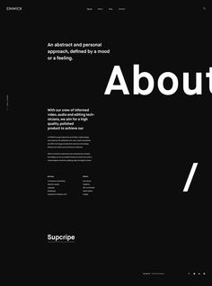 I like the use of big word(s) and smaller text to the side. The placement flows,… I like the use of big word(s) and smaller text to the side. The placement flows, and the font size/thickness has a nice hierarchy. Design Websites, Web Design Tips, Ui Design, Layout Design, Design Resume, Text Design, Portfolio Design, Portfolio Web Design, Portfolio Layout