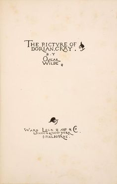 the picture of dorian gray book covers oscar wilde books and books first uk edition of the picture of dorian gray title page by charles ricketts