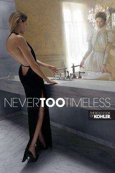 Gold dress in kohler commercial