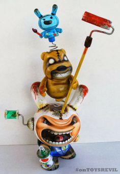 "Custom-Feature: ""Adventure Time"" kidrobot set from Rask Opticon"
