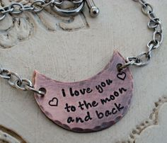 Rustic I Love You To The Moon and Back Bracelet