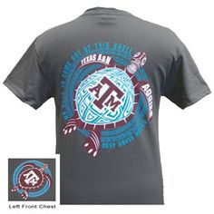 New Texas A&M Aggies Turtle Shell Wave Girlie Bright T Shirt | SimplyCuteTees