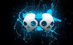 Skullcandy Wallpaper Artwork Blue Skull Life Art Work Of