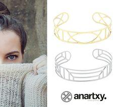 Brazaletes geométricos www.anartxy.com #anartxy #woman #acero316L #joyas #Jóias #Jewels #Bijoux #estilo #style #trend