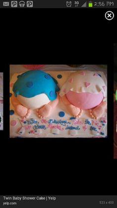 Twin baby shower cake!