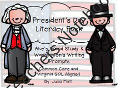 25% OFF PRESIDENT'S DAY SALE!!! President's Day Literacy Pack!!!