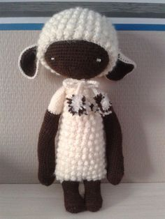 LUPO the lamb made by Stephanie P. / crochet pattern by lalylala ♡
