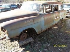 Another awesome car being Parted Out by Charlie's Used Auto Parts: 1955 Chevrolet Station Wagon. Has a lot of chrome trim on it!