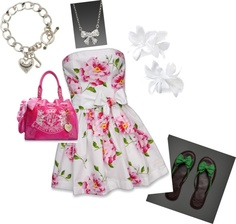 spring dress, created by isla614 on Polyvore