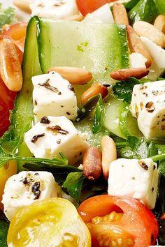Easy Salad Recipes, Easy Salads, Good Healthy Recipes, Summer Salads, Healthy Drinks, I Love Food, Good Food, Yummy Food, Clean Eating