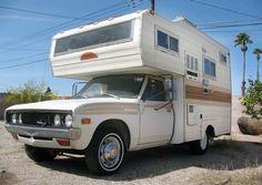 Faded Glory:1978 Datsun 620 Mini Motorhome - http://barnfinds.com/1978-datsun-620-mini-motorhome/