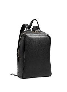 #calvinklein mens grain calf backpack