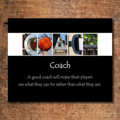 Basketball Coach Print Coach Print Letter Art by CraftyArtsyThings