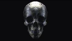"rhubarbes: "" ArtStation - skull, by Mark Kent More robots here. Skull Face, Cow Skull, Human Skull, Broly Ssj3, Sci Fi Armor, Ex Machina, Cyberpunk Art, Ghost In The Shell, Skull And Crossbones"