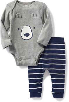 2-Piece Critter Bodysuit and Leggings Set for Baby